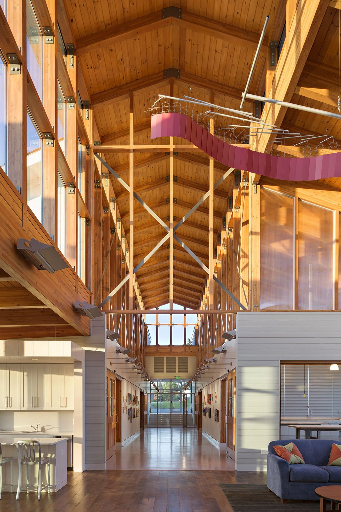 Main Hall of Indian Mountain School by UCE Fine Builders