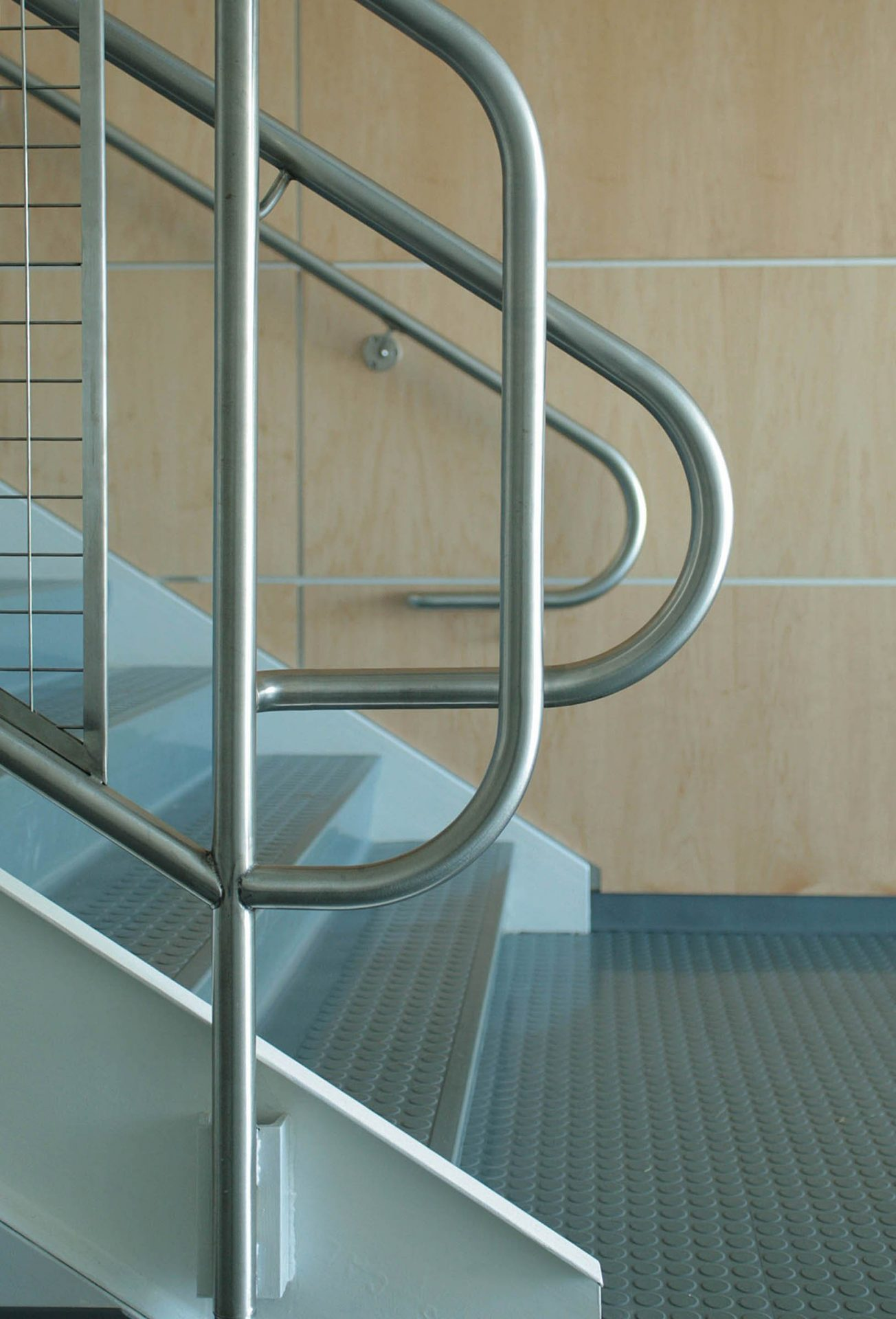 Stairs at Marvelwood School by UCE Fine Builders