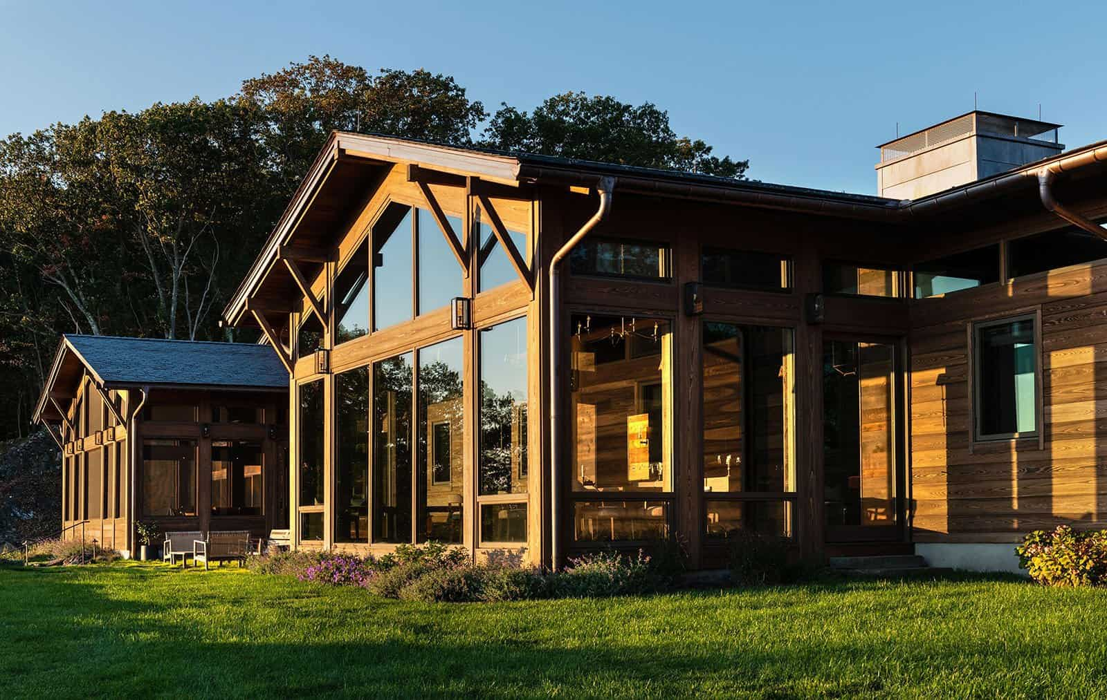 Taconic Lodge exterior windows UCE Fine Builders