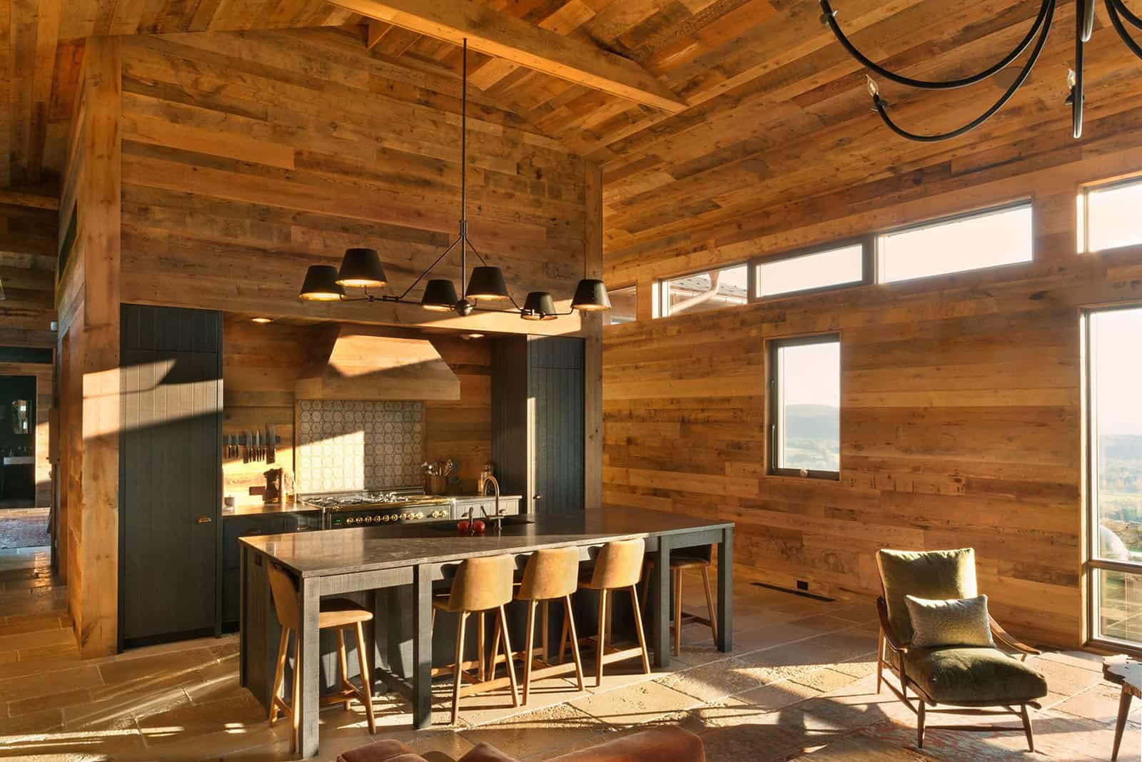 Taconic Lodge kitchen by UCE Fine Builders
